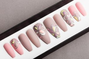 Luxury Beige and Pink nude Press on Nails