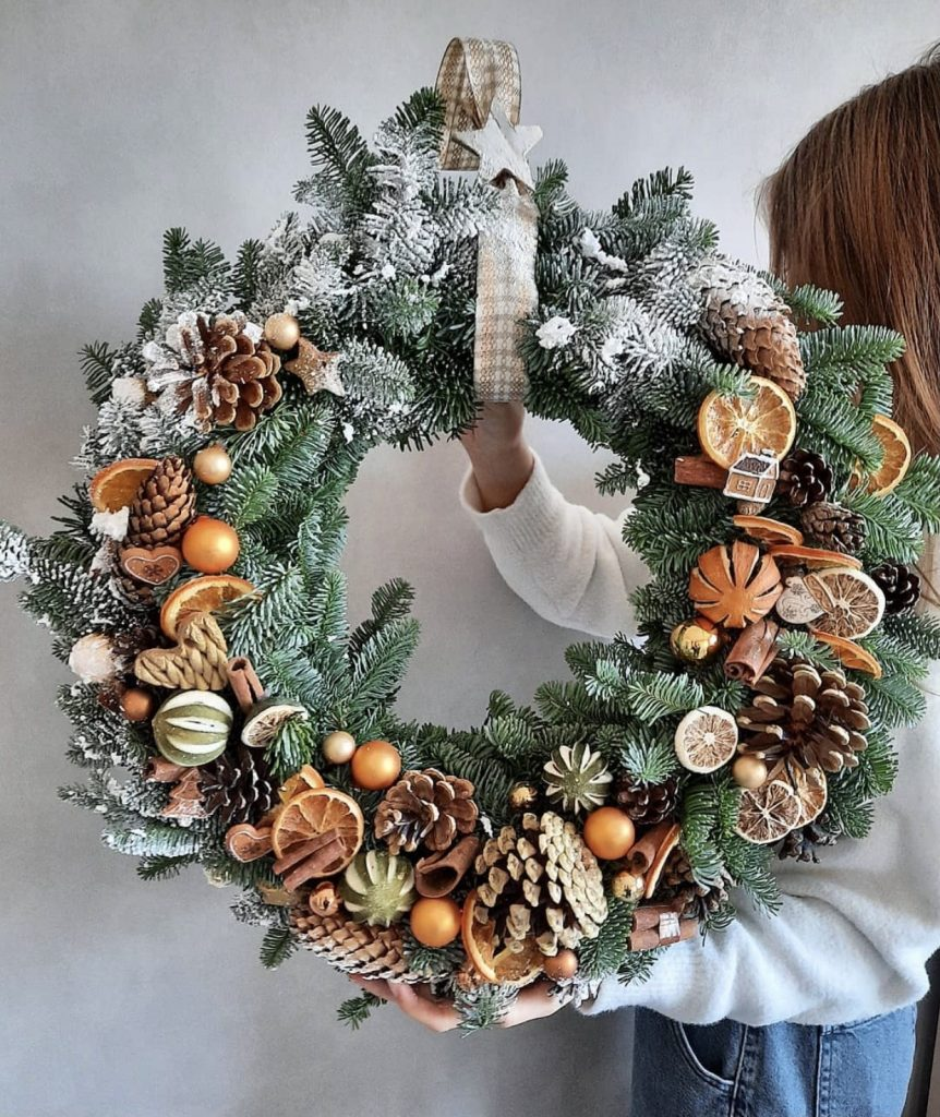 Fruity theme festive wreath