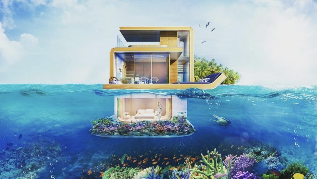 Dubai's Floating seahorse Villa for sale