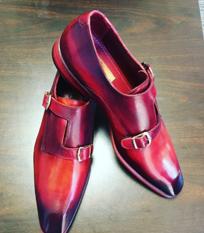 Ombre custom Men's Leather shoes
