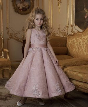 Pink kids couture dress