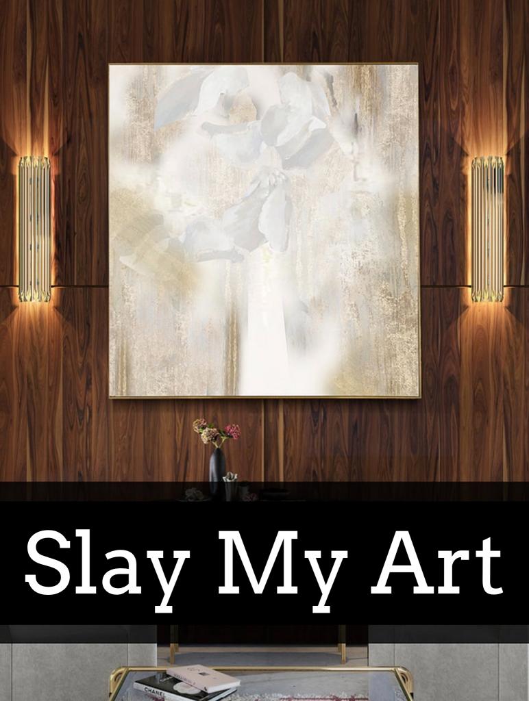 Creamy marble art