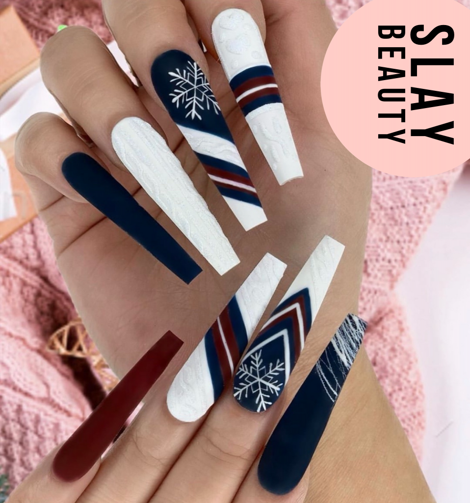 Luxury white and Red theme  Press on Nails