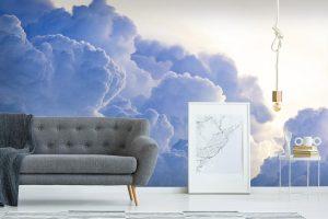 3D Dreamy clouds  vinyl Wallpaper Exclusive Design