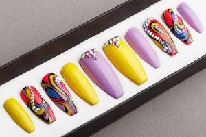 Luxury Tropical Abstraction Press on Nails