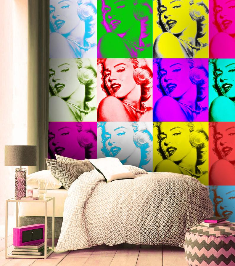 3D Marilyn Monroe vinyl Wallpaper Exclusive Design