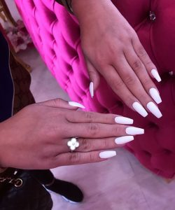 Luxury white Press on Nails