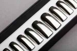 Luxury silver mirror Press on Nails