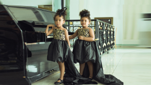 WIN a Slay My Bambini black and gold kids couture dress