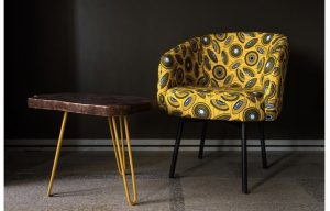 African theme Chair and stool set