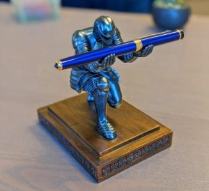 Your Majesty Knight Pen holder with elegant Pen