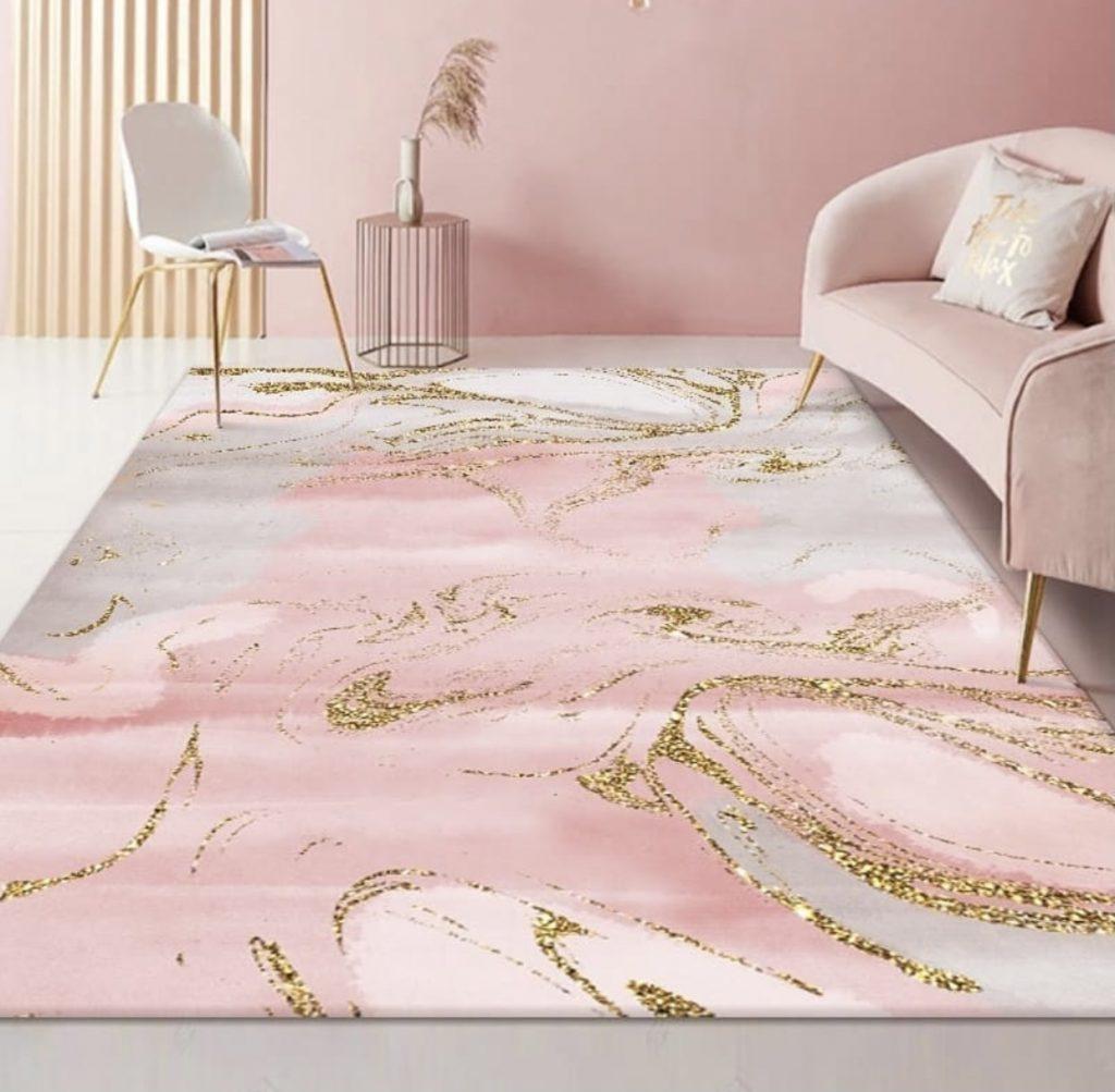 Worlds best Custom Hand-Tufted Carpet in Malachite Print