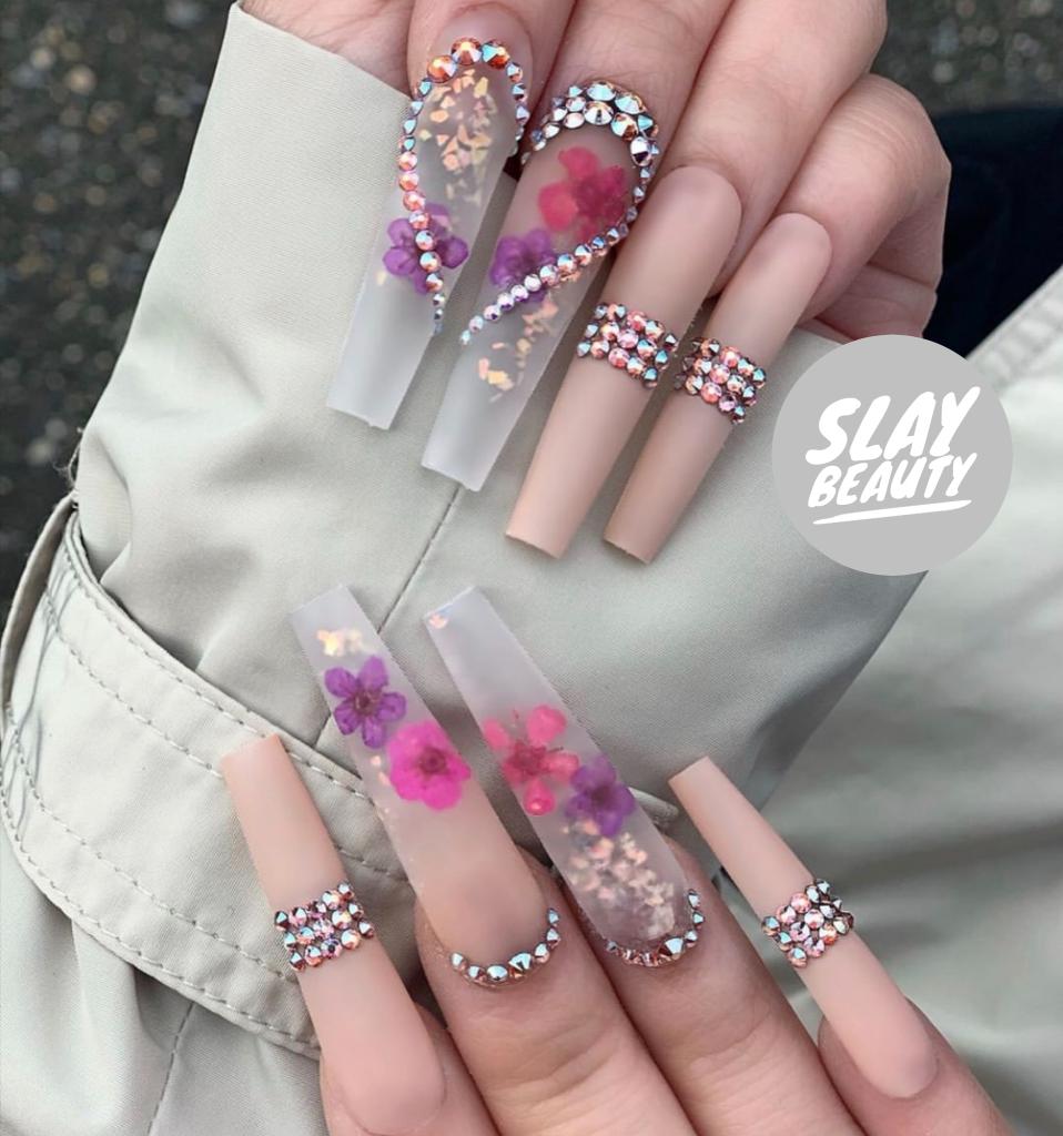 Luxury Elaborate summer embellished Press on Nails