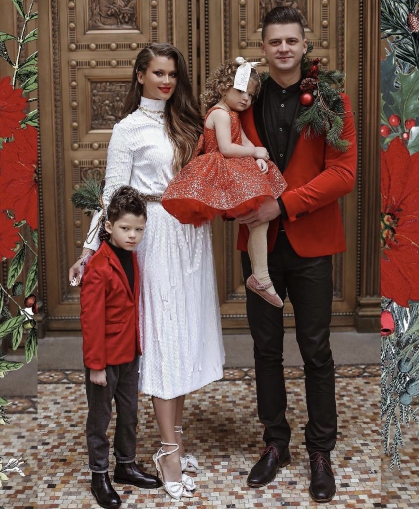 Coordinated celebration family fashion look