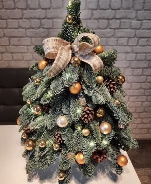 Stunning gold and green decorative home decor tree