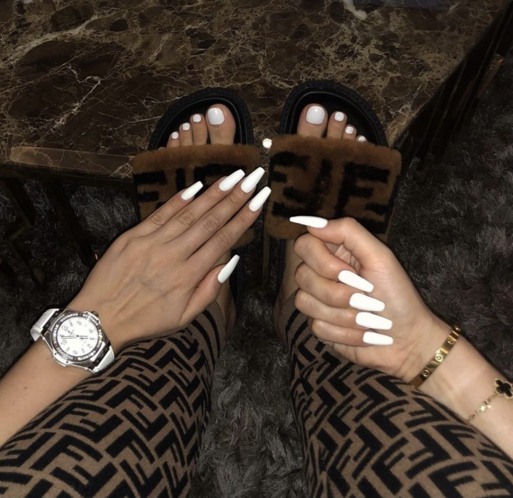 Luxury White Press on Nails
