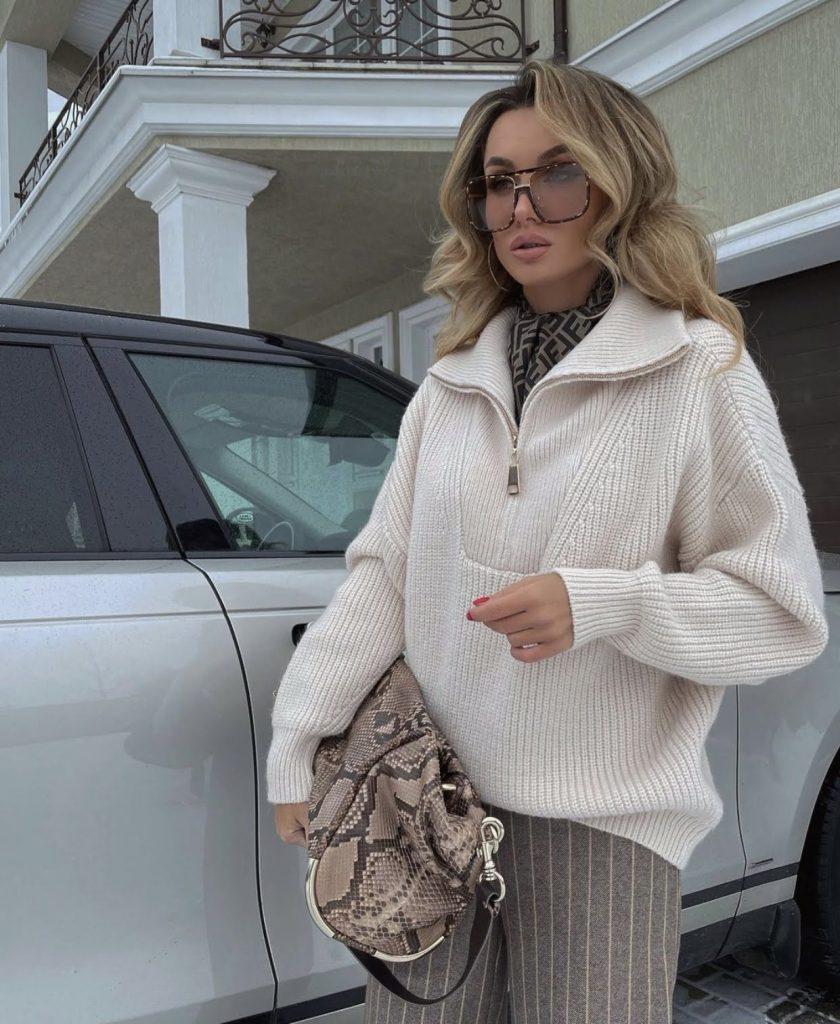 Victoria fox in a upper class casual look