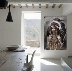 Indian Woman Hunter Art Print