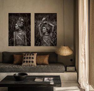 Boho Woman Art Set Print