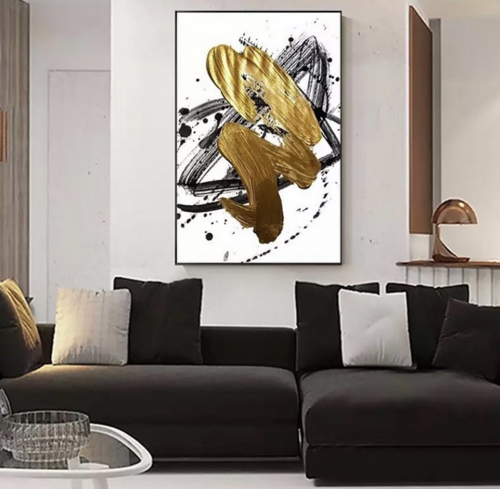 Luxe Black and Gold Art