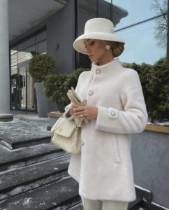 Victoria fox in an all white EXTRA posh outfit