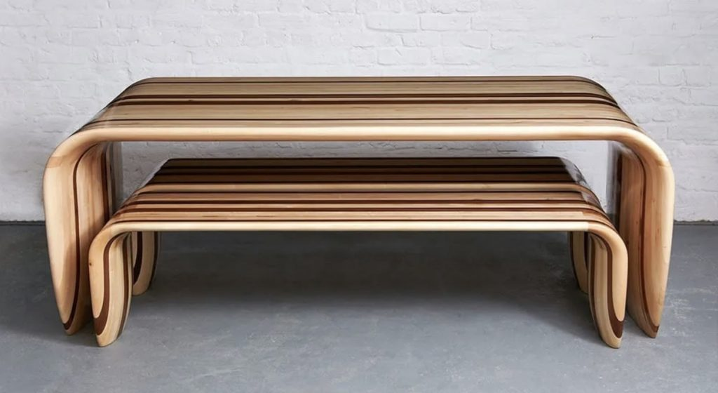 Luxurious surfer Handmade wood table