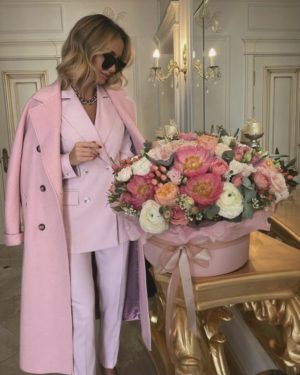 Victoria fox in an all pink boss babe outfit