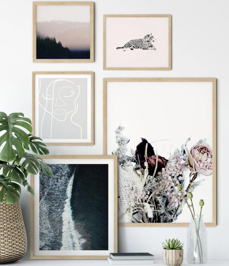Julie dried flower wall art print set