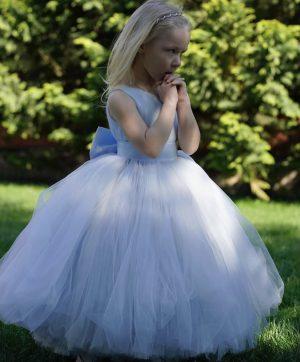 Cute powder Blue kids couture dress