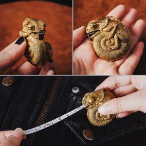 Gold Chameleon Measuring tape