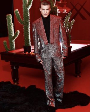 Metallic custom fashion Suit For men