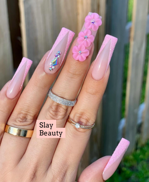 Pink obsession luxury press on nails