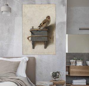 Luxury little birdie old masters Art print