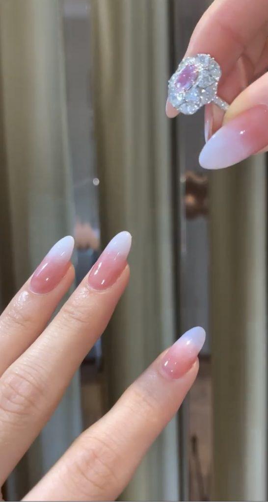Custom bridal ring and Press on Nails set