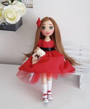 Handmade unique custom fabric doll