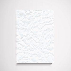 Scrunchie white  textured wall art print