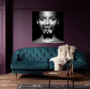 Luxury Butterfly Woman Art print