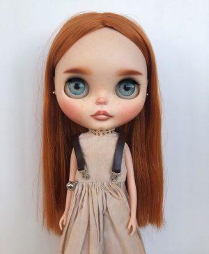Cute blushing OOAK doll
