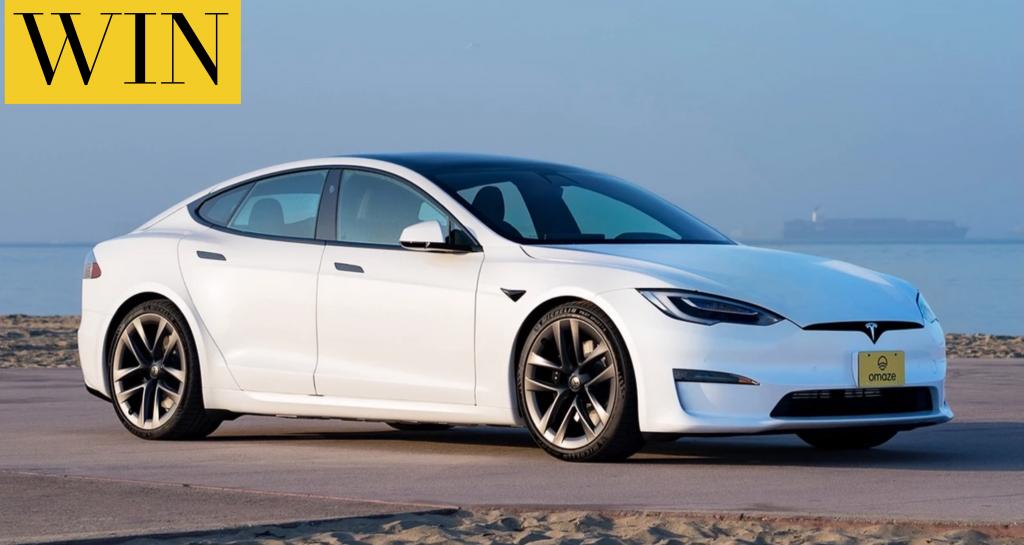 WIN a Tesla Model S® Plaid or $110,693 cash alternative