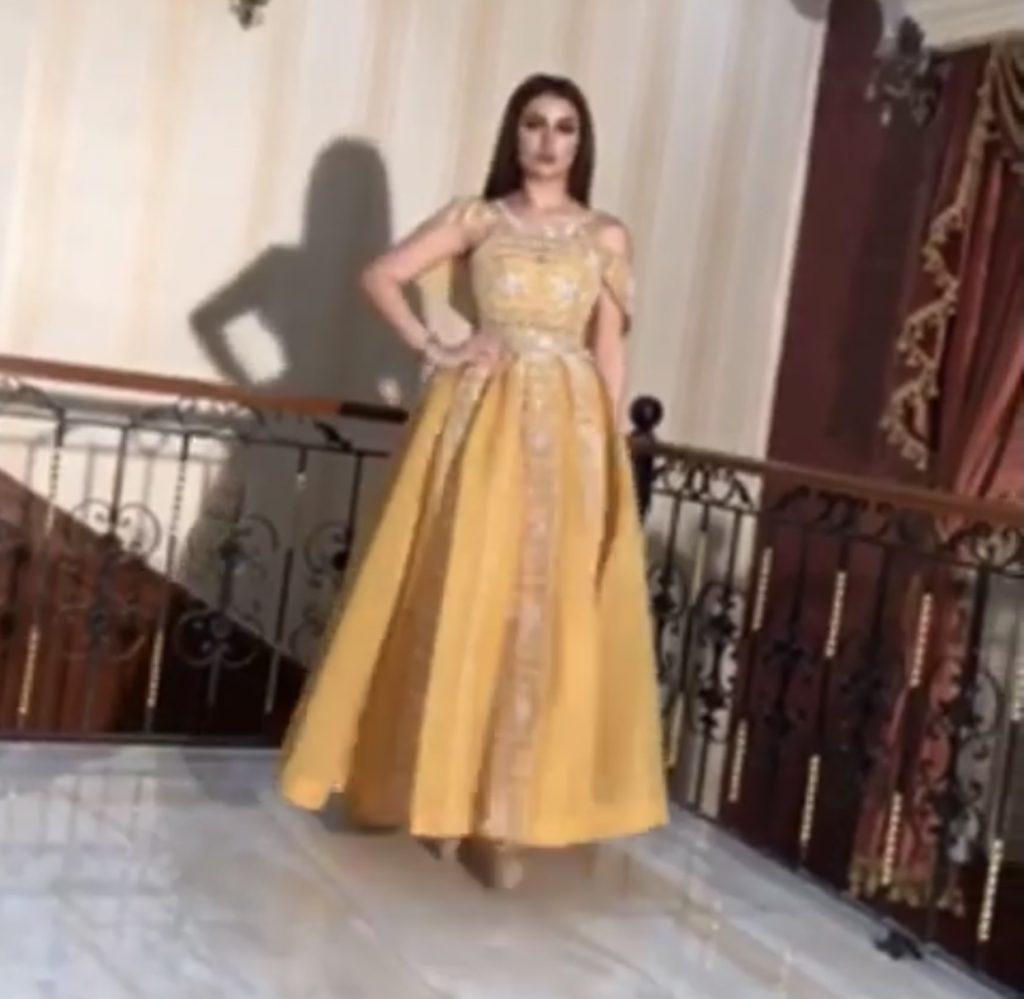 Yellow bling dress