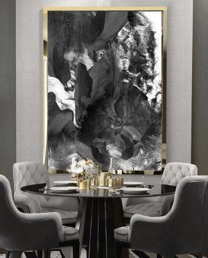 Dark mood marble art