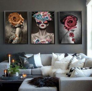 Luxury Eccentric but beautiful women art print