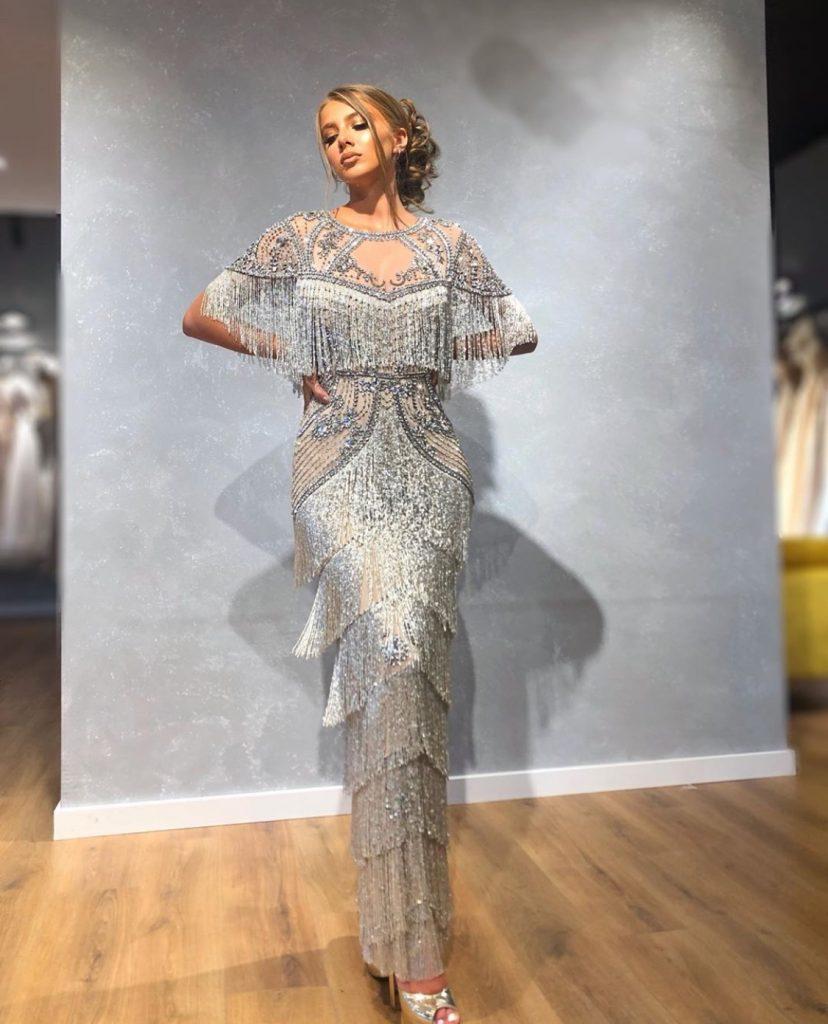 Silver bling fringe dress