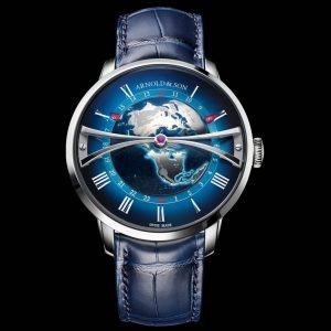 ARNOLD AND SON GLOBETROTTER BLUE WATCH