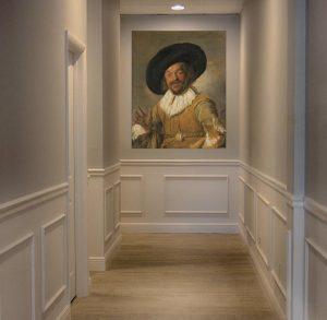 Luxury cheerful drinker Frans Hals art print