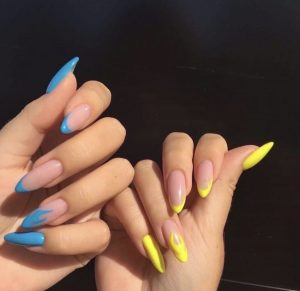 Luxury mismatched bright colors  Press on Nails