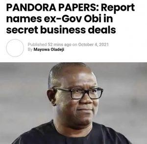 Peter Obi and the Pandora Papers saga