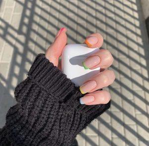 Luxury rainbow tips Press on Nails