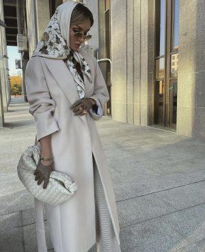 Victoria Fox in a high net worth fashion look