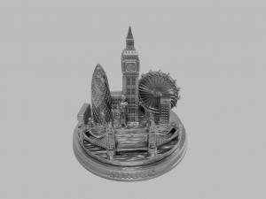 London city skyline model